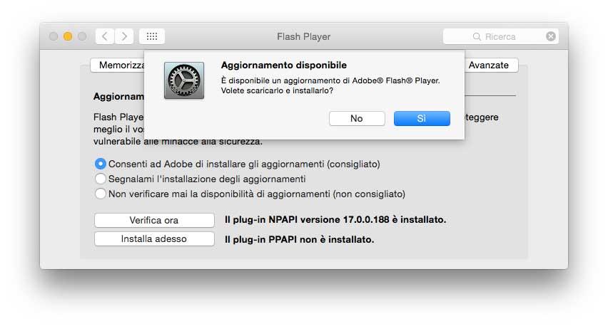 Update Flash da versione 1700188
