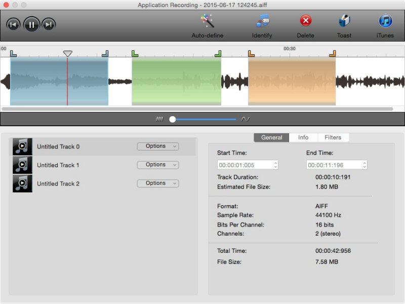 Il nuovo Toast Audio Assistant perette di importare audio da qualsisi punto, modificarlo, migliorarlo, aggiungerlo alla propria libreria musicale, convertirlo in CD e sfruttare l'audio catturato anche da iTunes.