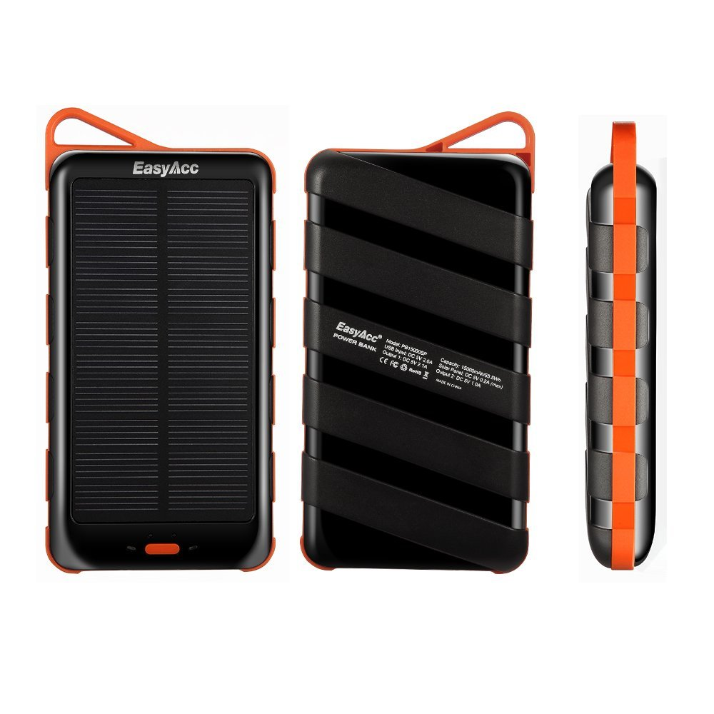 batteria con pannello solare