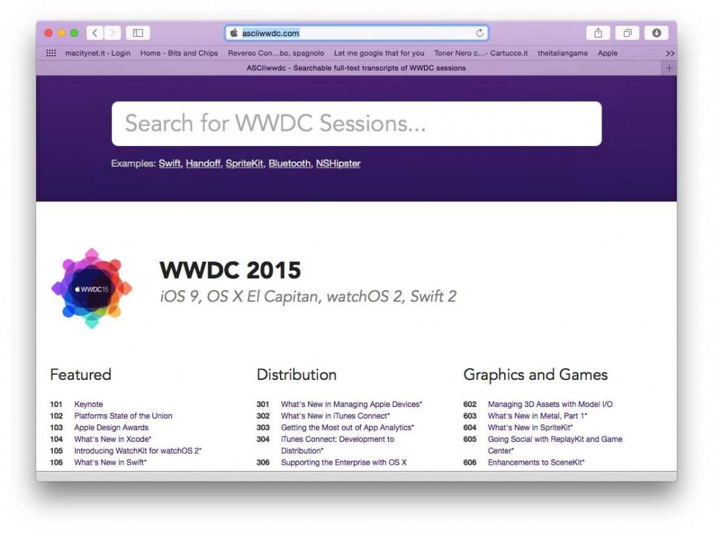 Sessioni WWDC 2015