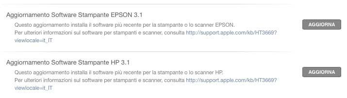driver per stampanti Epson e HP