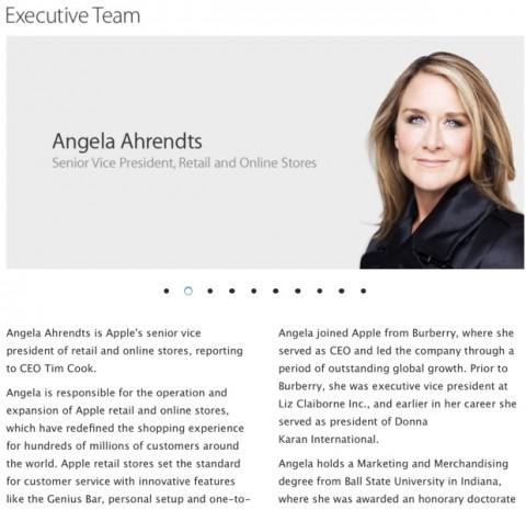 Angela Ahrendts profilo apple 620