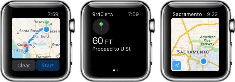 Mappe su Apple Watch