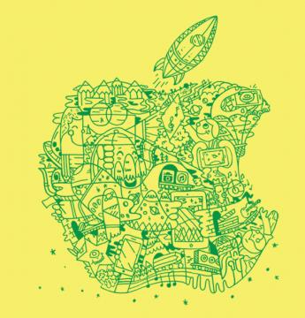 Logo Apple campo estivo
