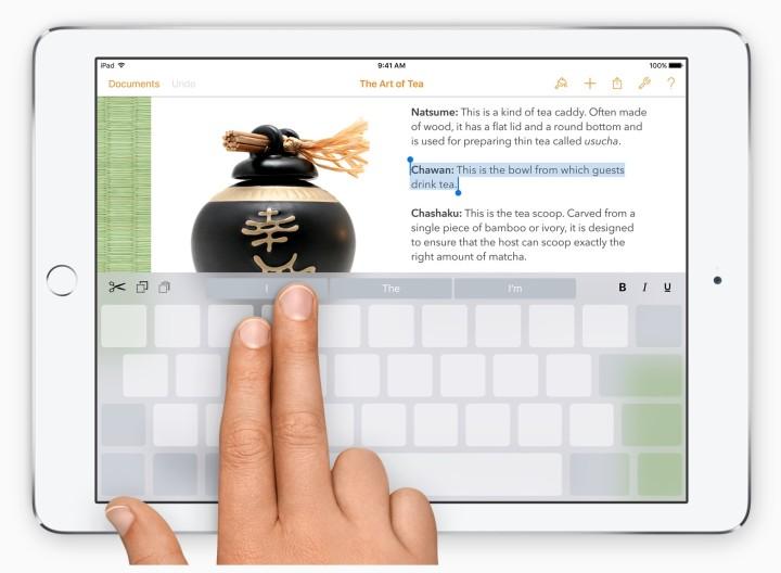 tastiera iOS 9