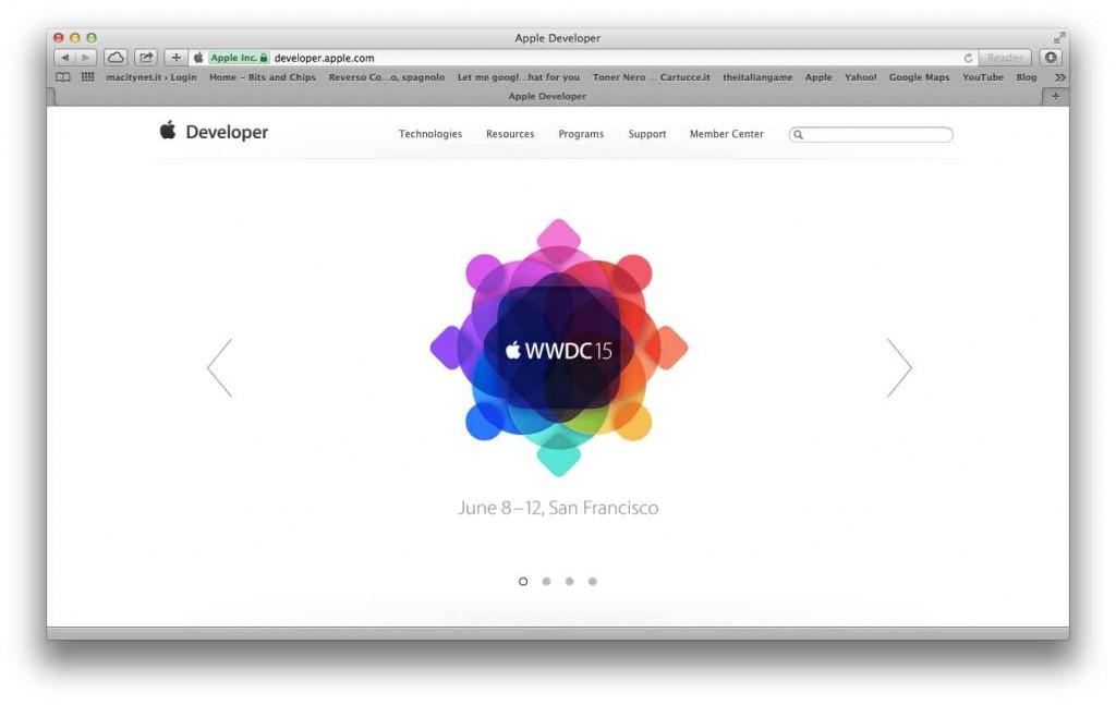 portale per sviluppatori chiuso WWDC15