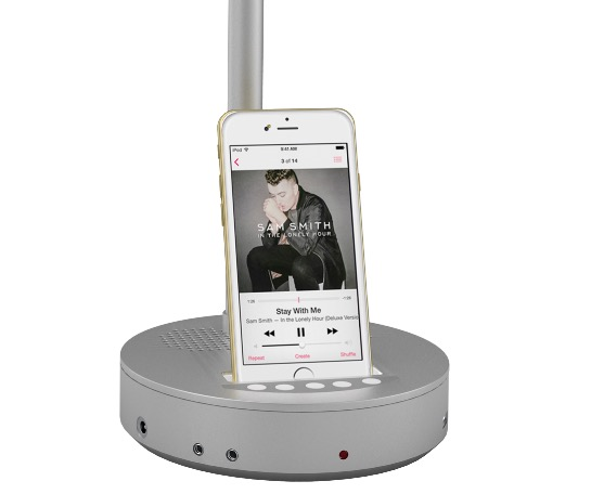 Lampade led nodis con dock e speaker che ricaricano iphone for Nuove lampade a led