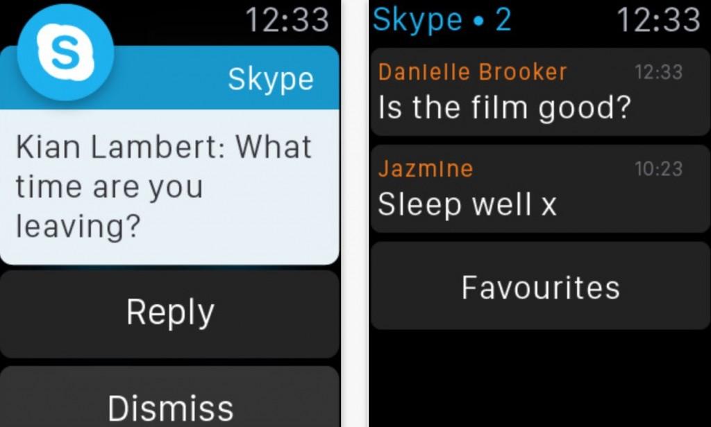 Skype per Apple Watch