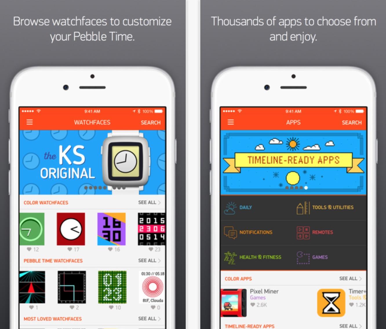 App iOS Pebble Time