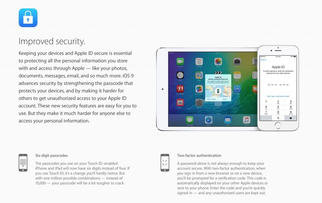sicurezza iOS 9