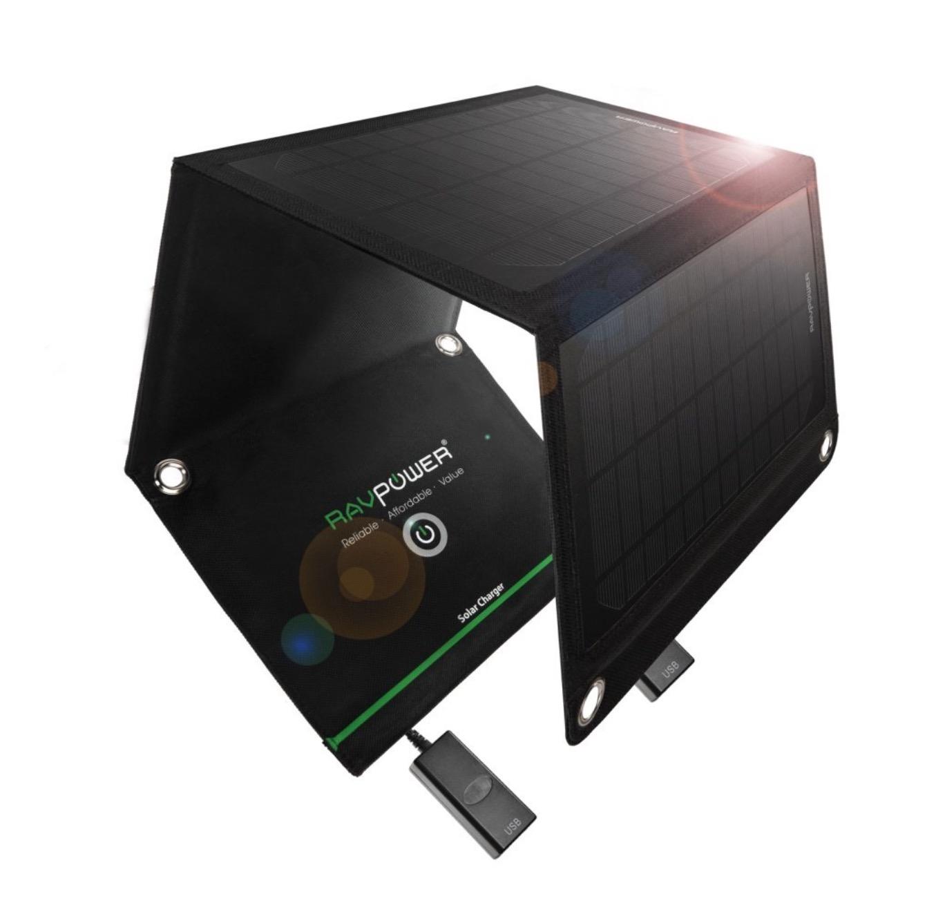 33,99 euro per pannello solare che ricarica cellulari e gadget USB