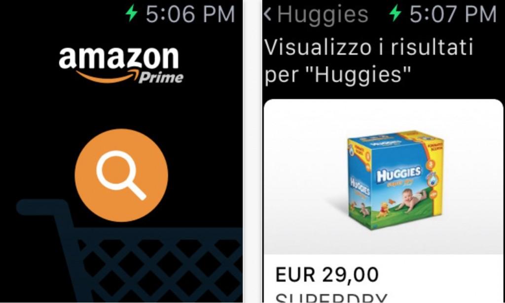 screenshot delle applicazioni per Apple Watch
