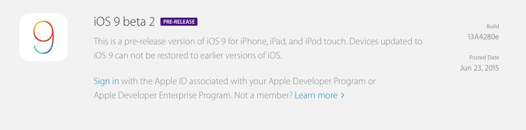 iOS 9 beta 2
