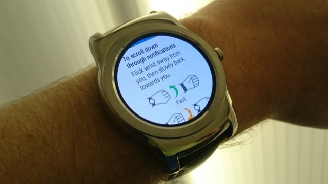 android wear gesture polso