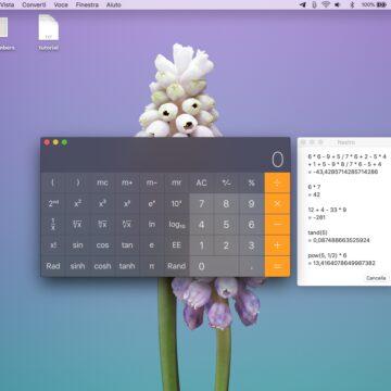 Come trasformare la calcolatrice del Mac in un calcolatore a nastro