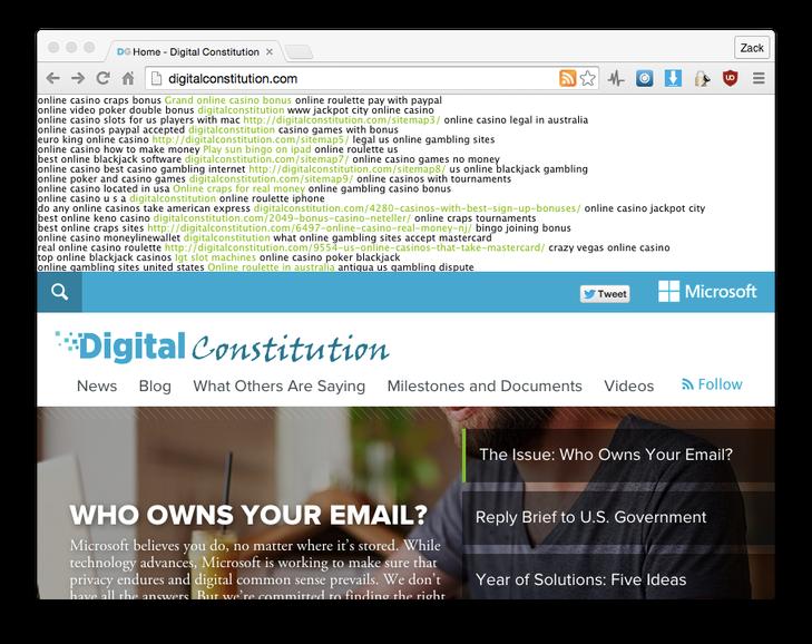 Bucato un sito Microsoft