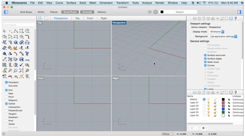 Disponibile rhino per mac potente software per cad e for Programma rendering free