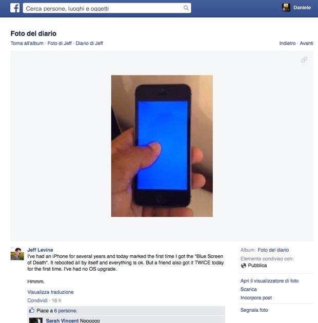 schermo blu della morte iphone 620