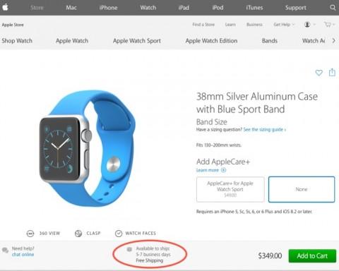 tempi di spedizione Apple Watch 620