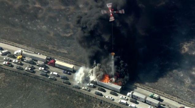 California: drone impedisce di spegnere un incendio