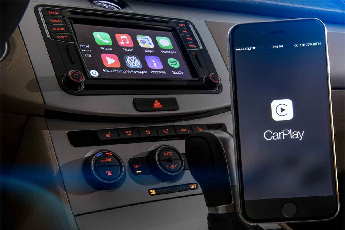 ces 2016 vw vuol dimostrare carplay wireless ma apple. Black Bedroom Furniture Sets. Home Design Ideas