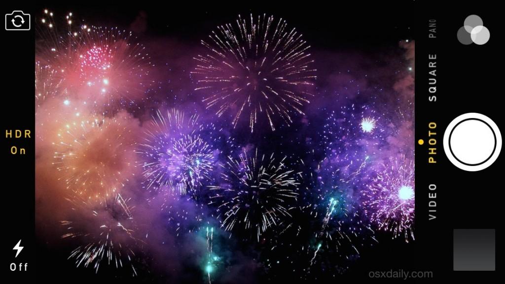 fuochi d'artificio iphone hdr