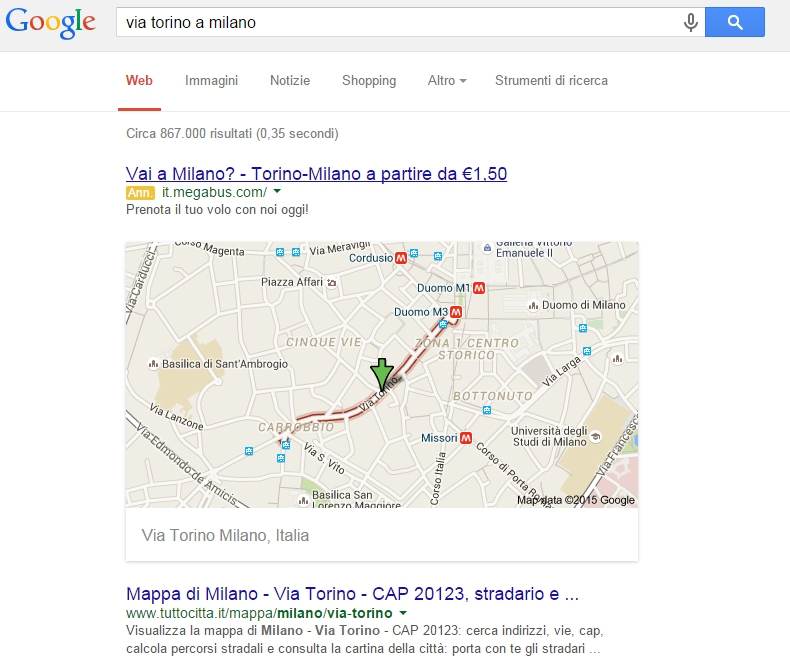google via torino a milano