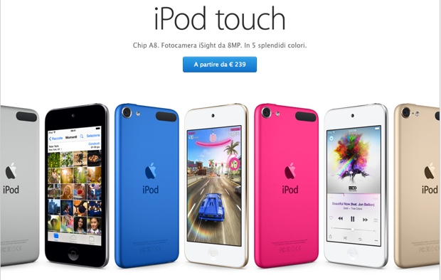 nuovo ipod touch a8 620