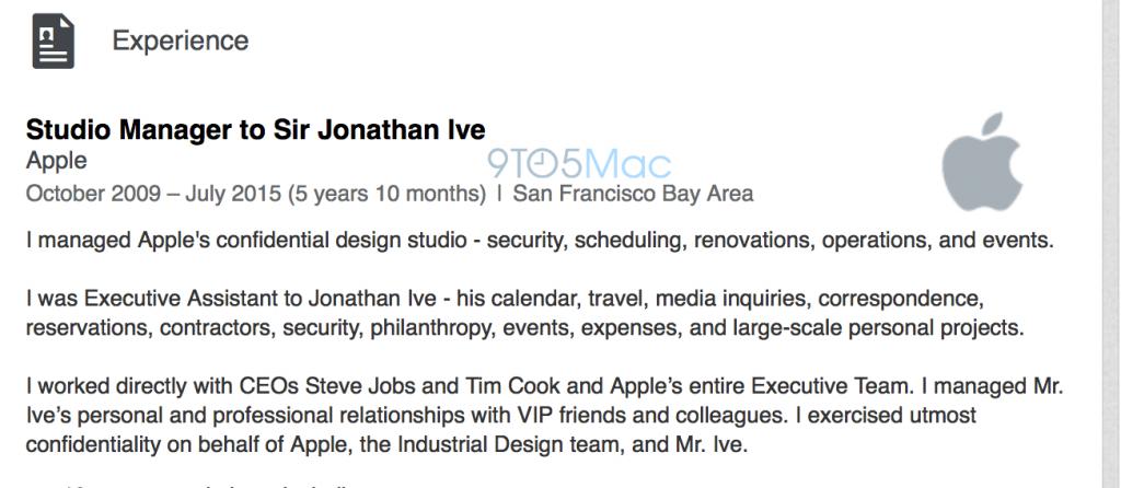 Harper Alexander, l'assistente di Jony Ive, potrebbe avere un nuovo ruolo, meno impegnativo, in Apple: minori responsabilità per il nuovo CDO?