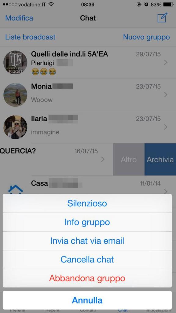 whatsapp per ios