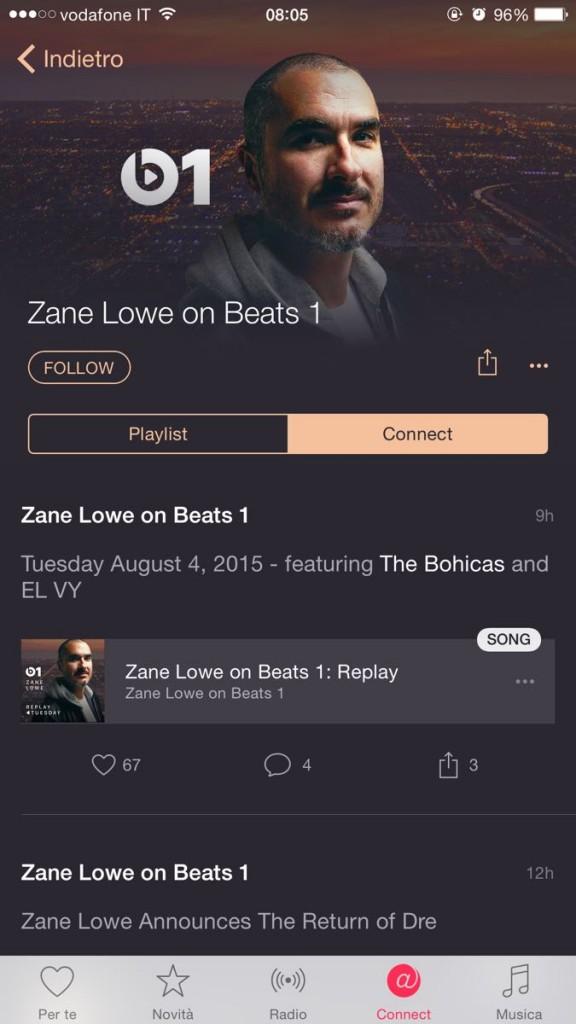 repliche delle trasmissioni di Beats 1