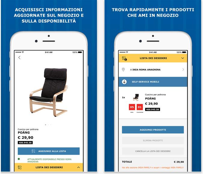 Ikea store nuova app del colosso svedese dell arredamento for App arredamento