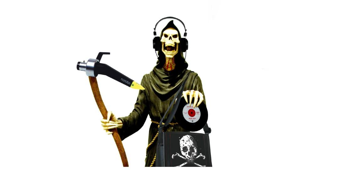 and vinyly scheletro con vinile