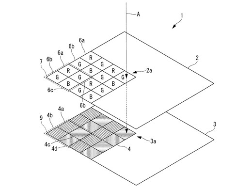 brevetto olympus per sensore con filtro polarizzatore