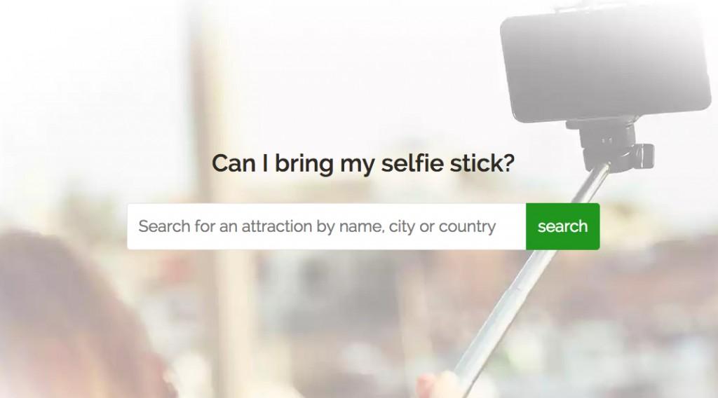 can i bring my selfie stick
