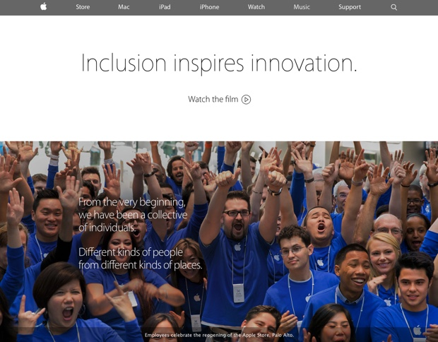 diversity inclusion page apple 620