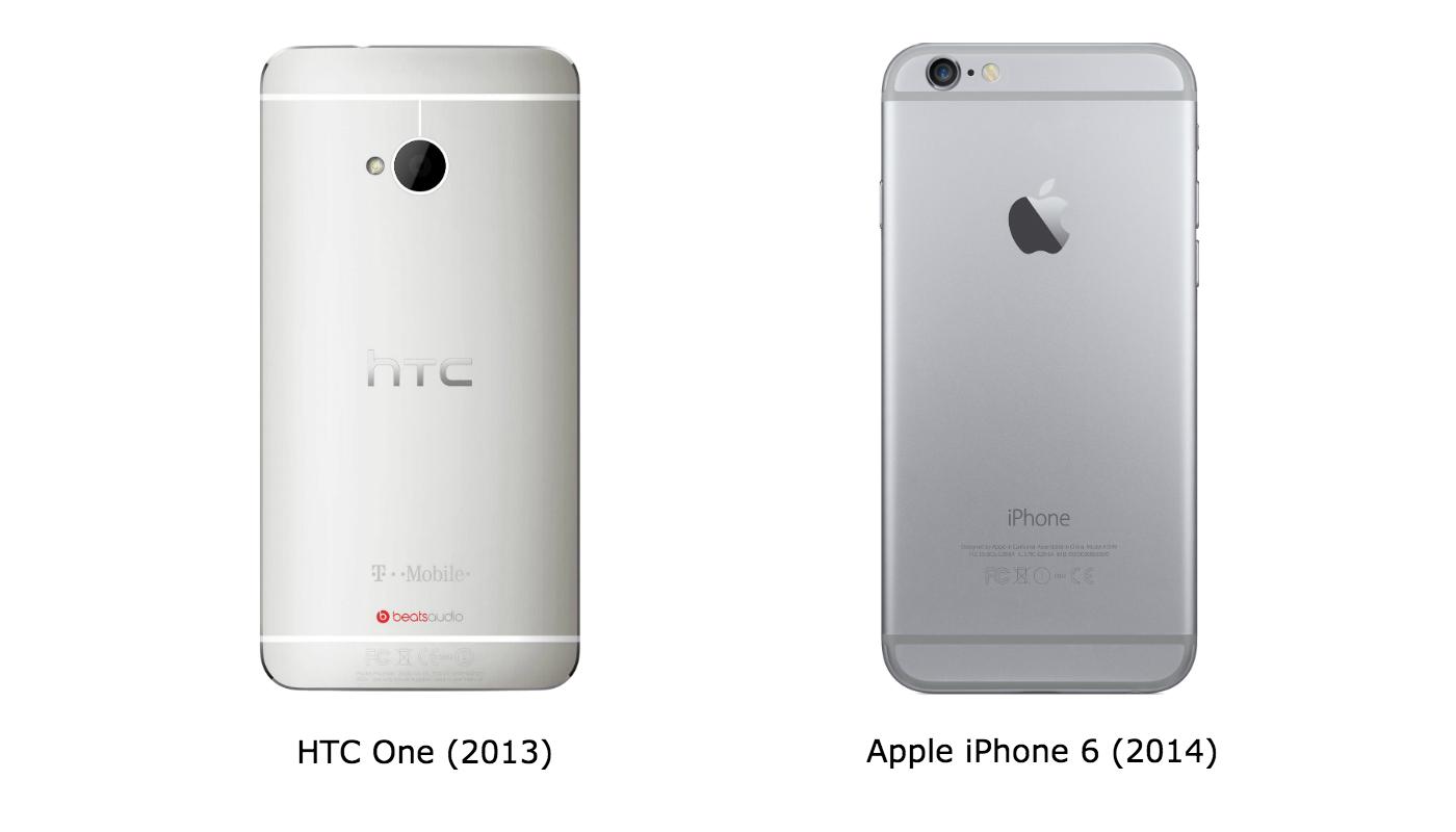HTC One M7 e iPhone 6