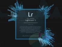 logo lighroom in caricamente con dashboard sullo sfondo