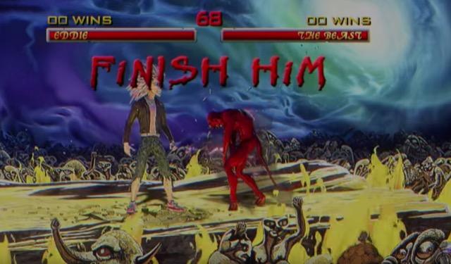 mortal kombat finish him iron maiden