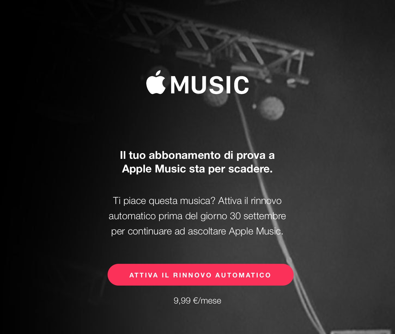 attivare l'abbonamento ad Apple Music