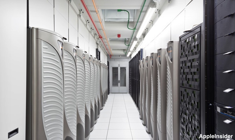 Rack per iCLoud nel data center Apple di Maiden (North Carolina)