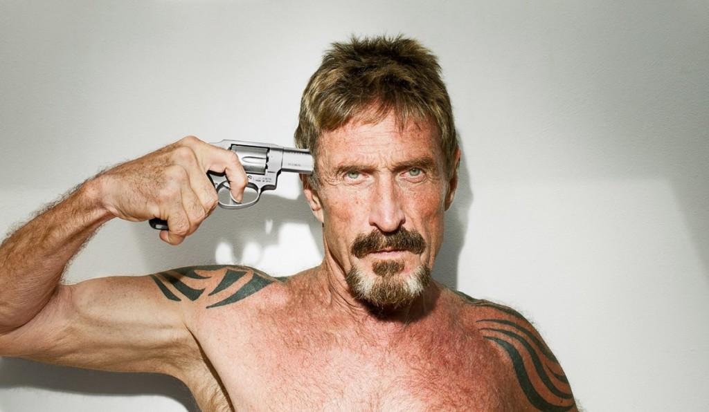 McAfee john ritratto con pistola 1200