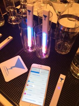 MixStik funzionante con luce led