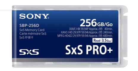 scheda SxS PRO+ da 256 GB