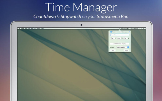 Timer Time Manager per Mac