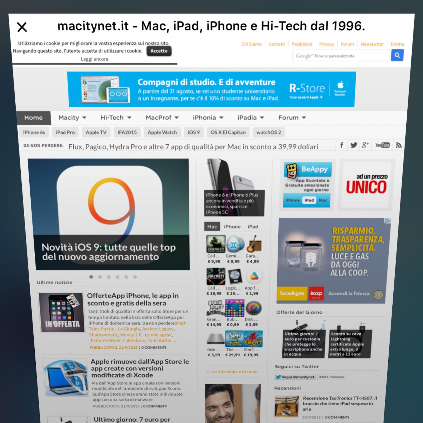 Richiedi sito desktop