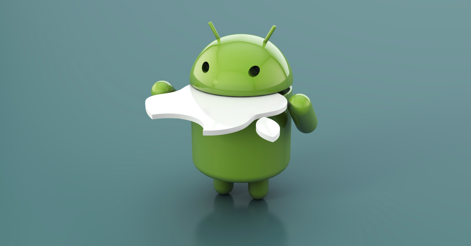 android mangia apple