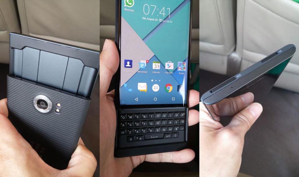 Alcune immagini del Blackberry Priv