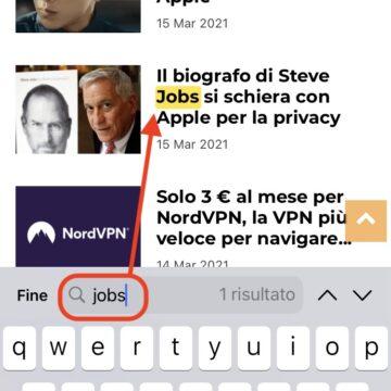 Come usare il tasto Cerca di Safari su iPhone e iPad