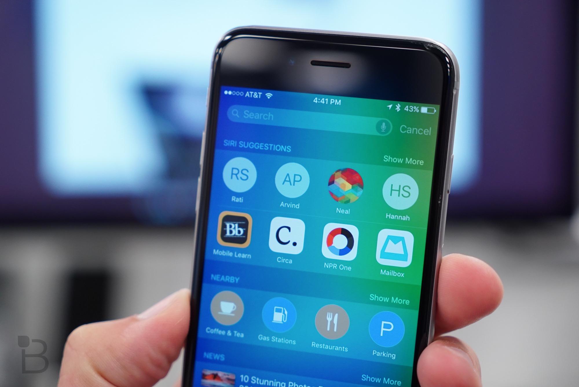 Funzioni iOS 9